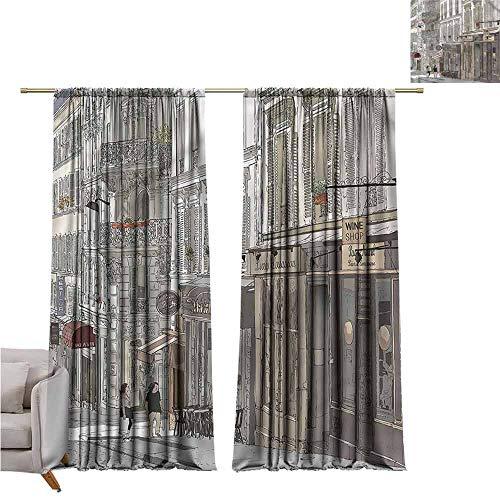 zojihouse Paris Fashion Room Darkening Window Curtains 55
