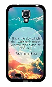 Psalms 118:24 Bible Verse TPU RUBBER SILICONE Phone Case Back Cover Samsung Galaxy S4 I9500