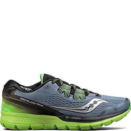 (Saucony Men's Zealot ISO 3 Running Shoe, Grey Black, 11 M US)