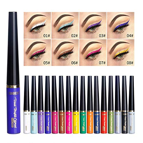 Coosa Matte Liquid Eyeliner [16 Colors] Long Lasting Waterproof High Pigmented Eyeliner Professional Colorful Eyeliner Pen Set - 16 PCS