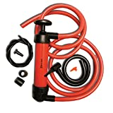 Zento Deals 3-in-1 Hand Siphon Pump Gas/Liquid/Air Manual Travel Emergency Vehicle Pump