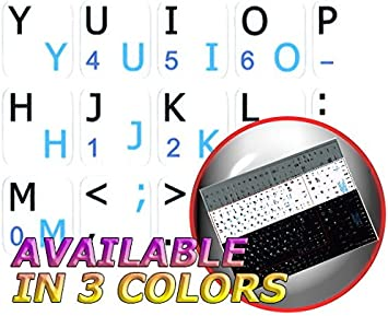 English Keyboard Stickers Black Background Non Transparent for Mini Laptop Netbook Spanish Latin American