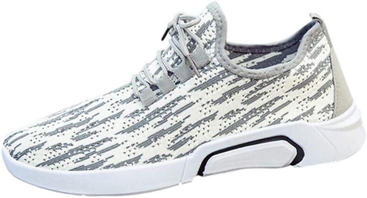 Zapatillas de Running Unisex Adulto, Sencillo Vida Zapatillas de Deporte para Hombre Zapatos de Seguridad Transpirables Sneakers Casuales Vestir Zapatos Deportivas Cordones para Correr Gimnasio: Amazon.es: Zapatos y complementos