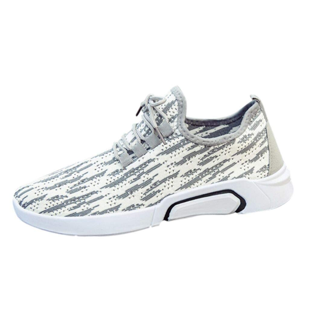 Men Summer Mesh Sneakers,Male Fashion Breathable Cushioning Shockproof Slip-on Anti-Slip Casual Sport Travel Shoes by Dacawin-Men Sneakers