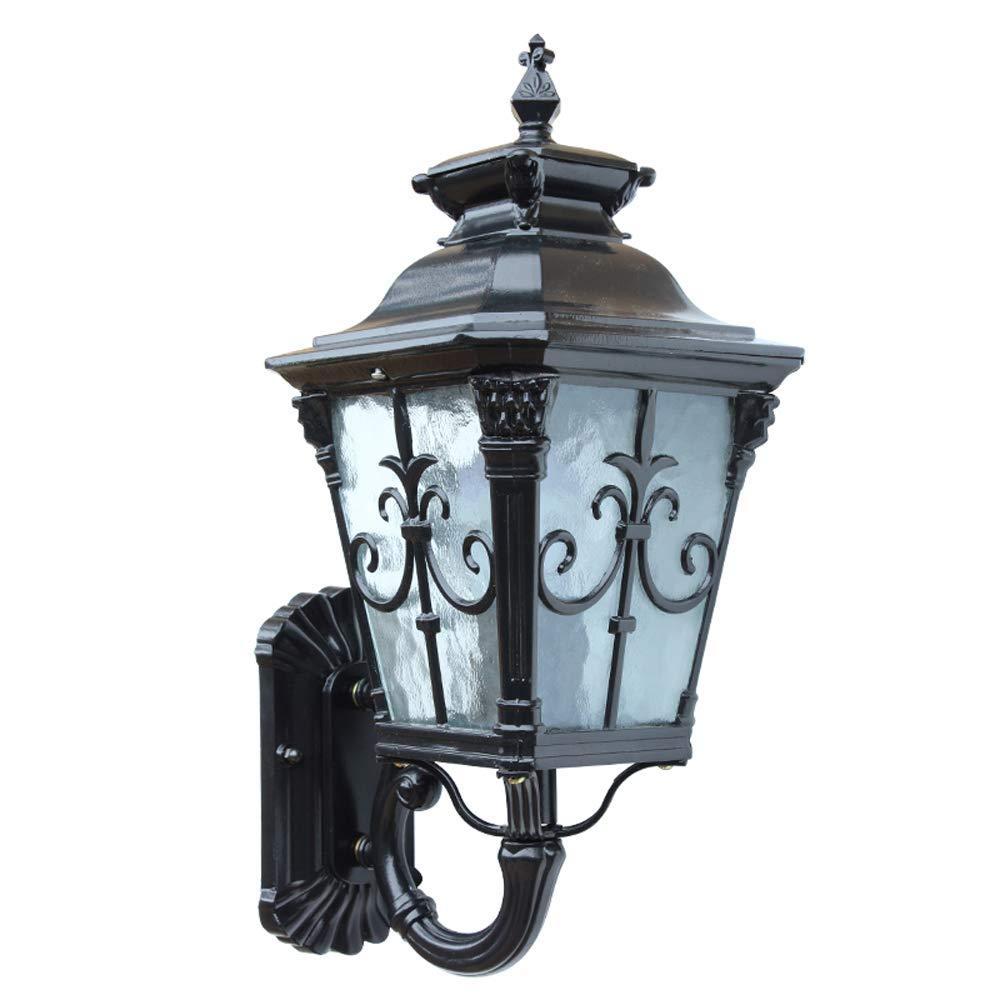 in vendita Hines Lampada da parete esterna lanterna in vetro europeo Antique Antique Antique Victoria Impermeabile applique da parete Giardino Villa Balcone Patio Corridoio Luci E27 Decorazione Applique  vendita outlet