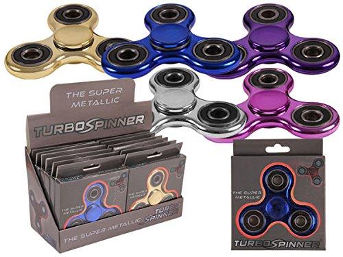 12 STÜCK WOW Turbo Fidget Spinner Metallic im Display Geduldspiel Finger EDC Entspannung Konzentration ADHS