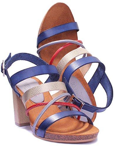 Femme Violeta Marine Justin Reece Sandales pour Bleu 7IWFqp