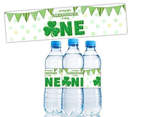 Amazon Com Shamrock 1st Birthday Water Bottle Labels Boy One
