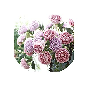 3 Head Peony Silk Artificial Flower Branch Tea Rose Bouquet Home Decoration Fake Flower Wedding Flowers 52