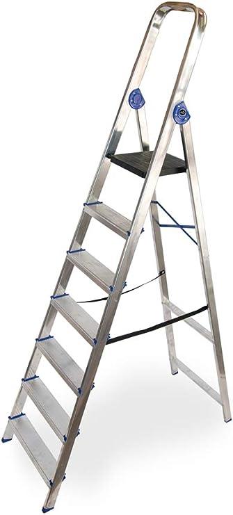 Escalera domestica de aluminio Altipesa (Aluminio, 7 PELDAÑOS ...