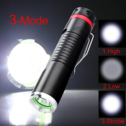 Your Supermart Mini R2 LED 600 Lumen Aluminum Alloy 3 Modes Tactical Flashlight Torch Light AA for Hunting Cycling Climbing Camping