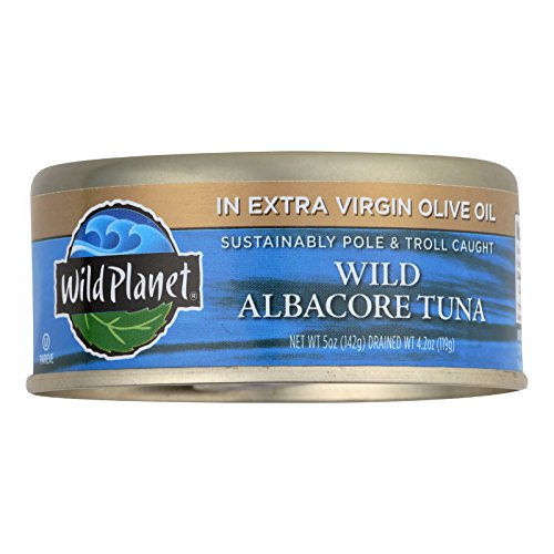 Oil Case Olive (Wild Planet Wild Albacore Tuna In Extra Virgin Olive Oil - Case of 12 - 5 oz.)
