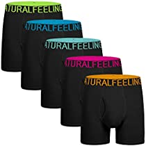 ILUVIT Mens Underwear Boxer Briefs Ultra Cotton Underwear Men Pack