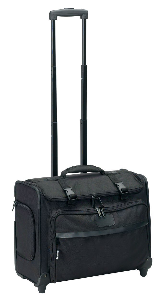 TravelWell Rolling Laptop Computer Case with Organizer Divider Wheels, 17'' L, Black