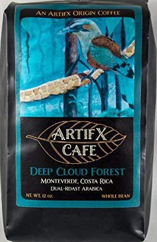 Artifx Cafe Deep Cloud Forest, Monteverde Costa Rica Coffee - 12 oz, Whole Bean - Nature Friendly