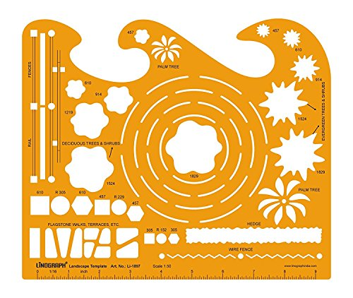 Landscape Template Drafting And Design Templates Stencil Symbols Technical Drawing Scale 1:50