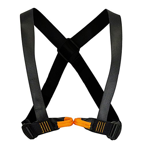 Fusion Climb Tyche Chest Rescue Zipline Harness 23kN M-L Black by Fusion Climb