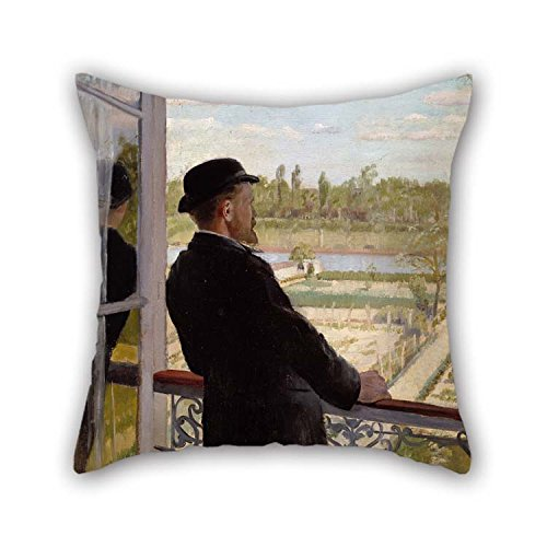 Oil Painting Christian Krohg - Portrait Of The Swedish Painter Karl Nordstr?m Pillow Covers 16 X 16 Inches / 40 By 40 Cm Gift Or Decor For Son Car Home Theater Home Office Bedroom Sofa - Both Side