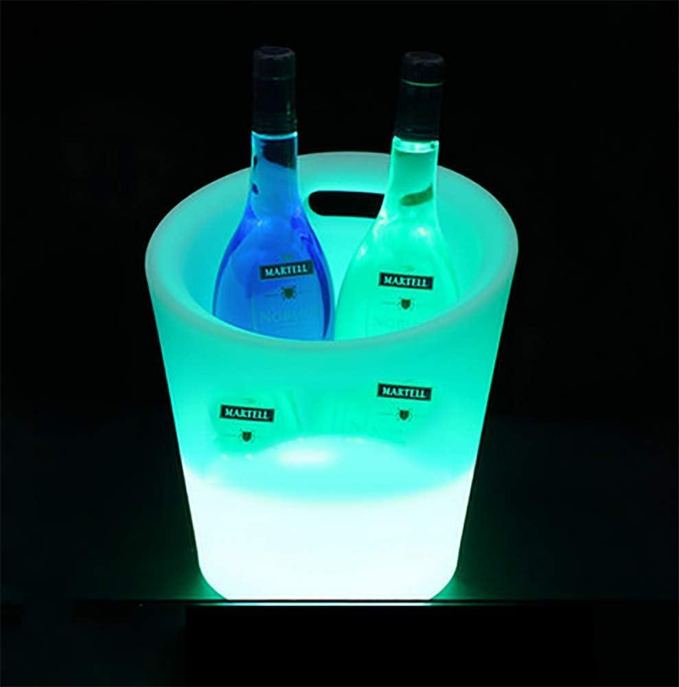 Cubo de hielo LED de gran capacidad de Wine Cooler LED con 7 colores cambiantes, impermeable, interior y exterior, fiesta, champán, vino, cerveza, cuenco, etc.