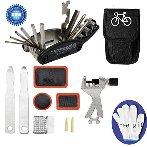 Kit Repair Tool Bicycle (Bicycle repair kit, bicycle tool kit,bicycle tools,bicycle tool bag with tools,bicycle tool repair kit,tools for bicycles,bicycle tool kit with bag)