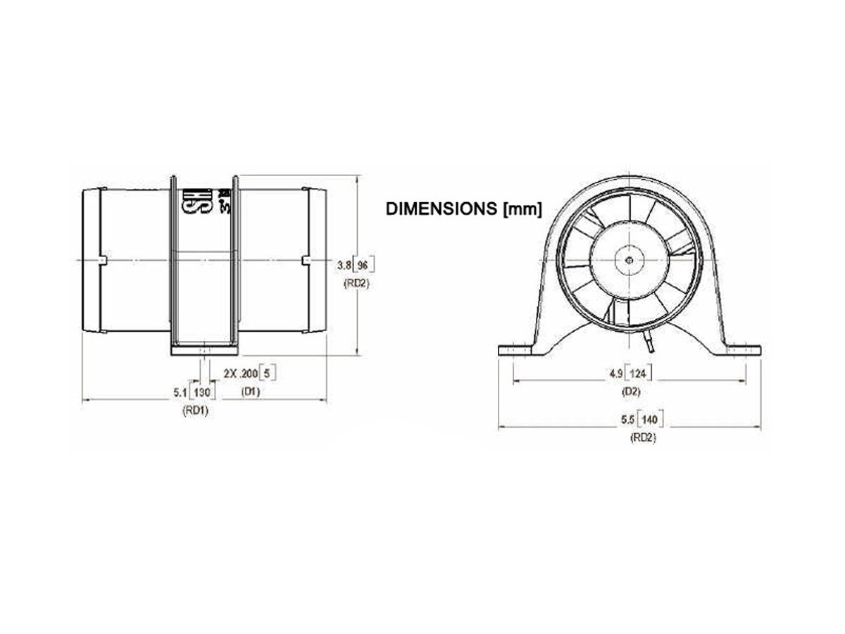 Shurflo 3 Yellowtail Marine Blower Set Of 2 Bc Attwood Trolling Motor Plug Wiring Diagram 1760 M2 Sports Outdoors