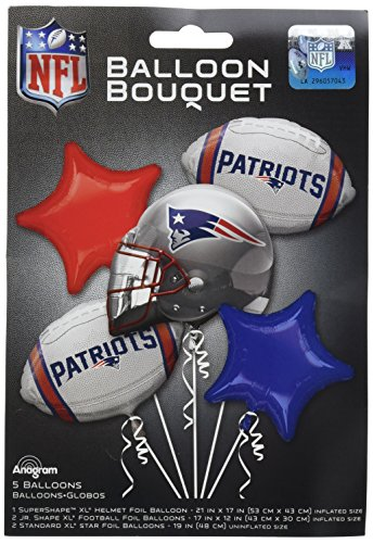 Anagram Bouquet Patriots Foil Balloons, Multicolor -