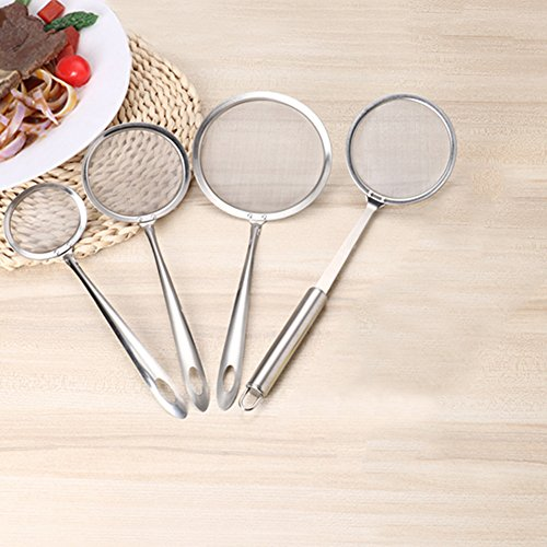 daffodilblob Durable Stainless Steel Mesh Spoon Sifter Sieve Kitchenware Cooking Oil Skimmer Strainer High Temperature Resistant L by daffodilblob (Image #6)