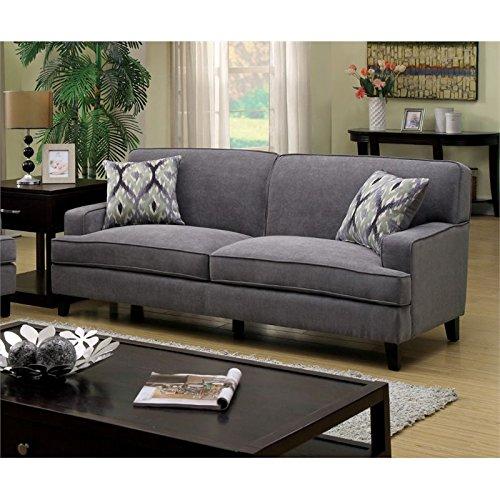 Furniture of America Elde Fabric Sofa in Stone Blue