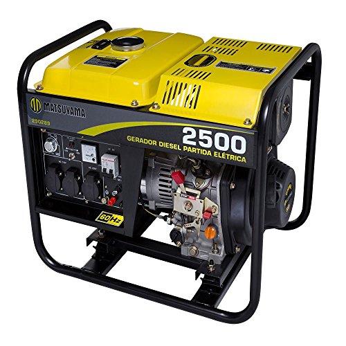 Gerador à Diesel 2500W Monofásico Partida Elétrica 110/220V-MATSUYAMA-290289