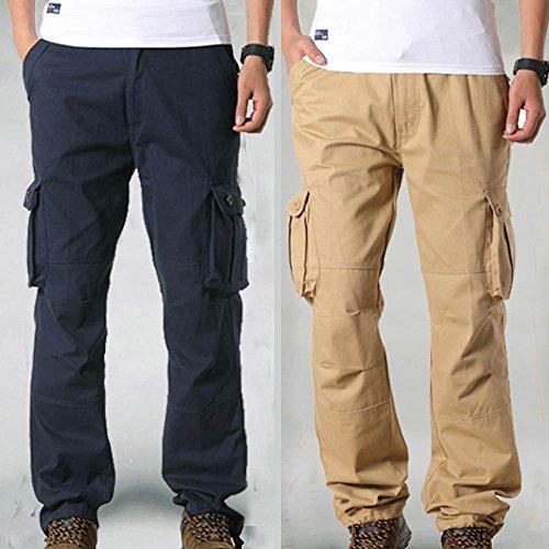 De Noir Multi Kppong Cargo Bleu Sport Mode Homme Combat poche Marine Style Grande Military Pantalon Taille Casual Cool Slim Kaki wfzqIxaFf