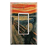 Graphics Wallplates - The Scream by Edvard Munch