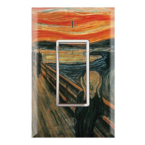 Graphics Wallplates - The Scream by Edvard Munch - Single Rocker/GFCI Outlet Wall Plate Cover