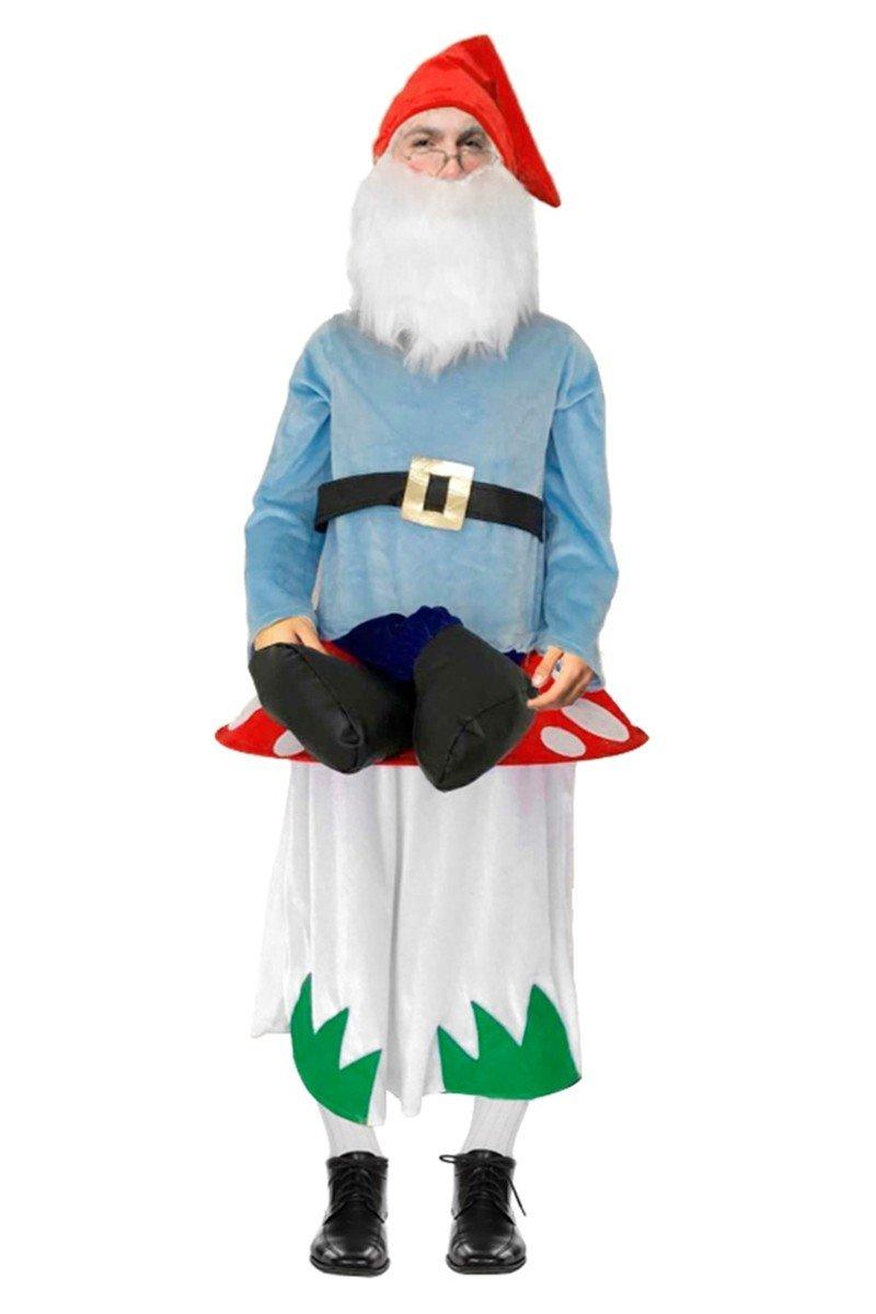 Generique - Zwerg Kostüm auf Pilz für Erwachsene Einheitsgröße