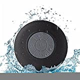 Portable Waterproof Bluetooth Speaker,Hica Portable Waterproof Bluetooth Wireless Stereo Shower Mini Speakers Support Hands-free Function with Suction Cup and Built-in Mic for Phone,Tablet(Black)