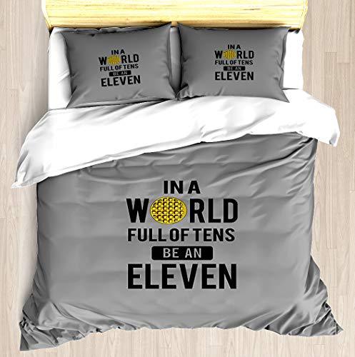 NTCBED Stranger Things - Duvet Cover Set Soft Comforter Cover Pillowcase Bed Set Unique Printed Floral Pattern Design Duvet Covers Blanket Cover King/Cal King Size