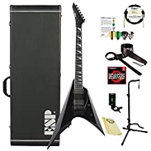 ESP EIIARROW7BLK-Kit-1 Arrow Series 7-String Electric Guitar with Hard Case and ChromaCast Accessories, Black