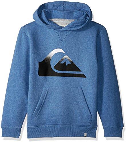 Quiksilver Pullover Sweatshirt - Quiksilver Big Boys' Logo Hood Kids, Bright Cobalt Heather, L/14