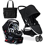 Britax 2017 B-Agile 3/B-Safe 35 Elite Travel System with Diaper Bag - Cowmooflage