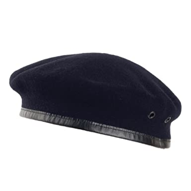 0eefc5db8b5 Laulhère Hats Merino Wool French Military Beret - Navy  Amazon.co.uk ...
