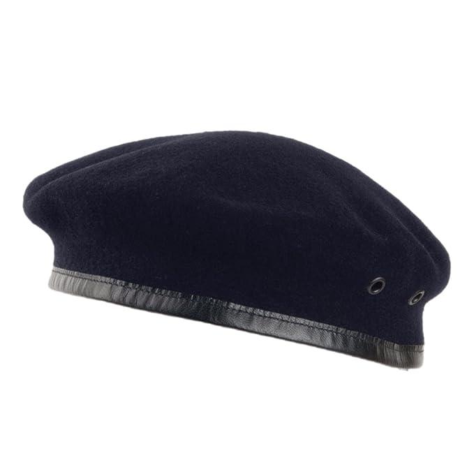 Village Hats Boina militar francesa de lana Merino de Laulhère - Azul  Marino - 57  Amazon.es  Ropa y accesorios 3fab9506276