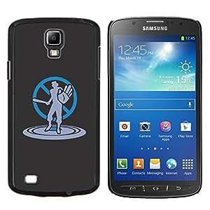 YiPhone /// Prima de resorte delgada de la cubierta del caso de Shell Armor - Art No Violencia Bat - Samsung Galaxy S4 Active i9295
