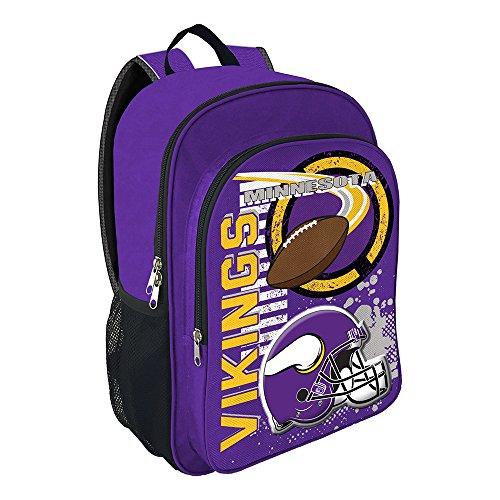 The Northwest Company NFL Minnesota Vikings Unisex Accelerator Backpack Accelerator Backpack, Black, One Size