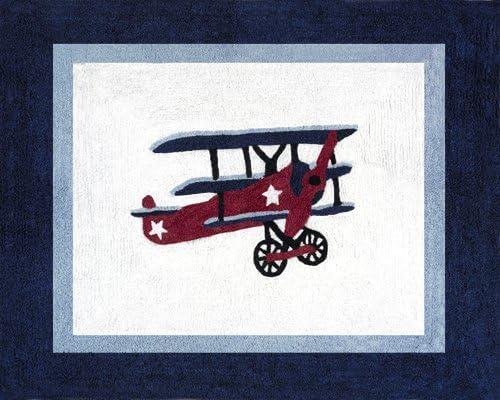 Vintage Aviator Accent Floor Rug