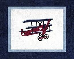 Vintage Aviator Accent Floor Rug by Sweet Jojo Designs