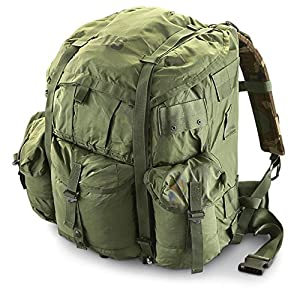 6. USGI: Large ALICE Field Pack, Pack Only, Military Survival Backpack