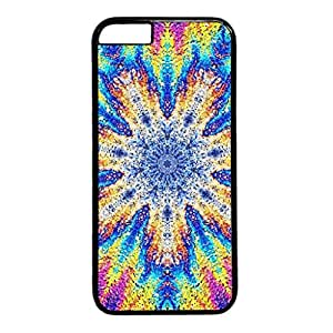 Abstract Color Painting Persalized Cover Case for Apple iPhone 6 Black