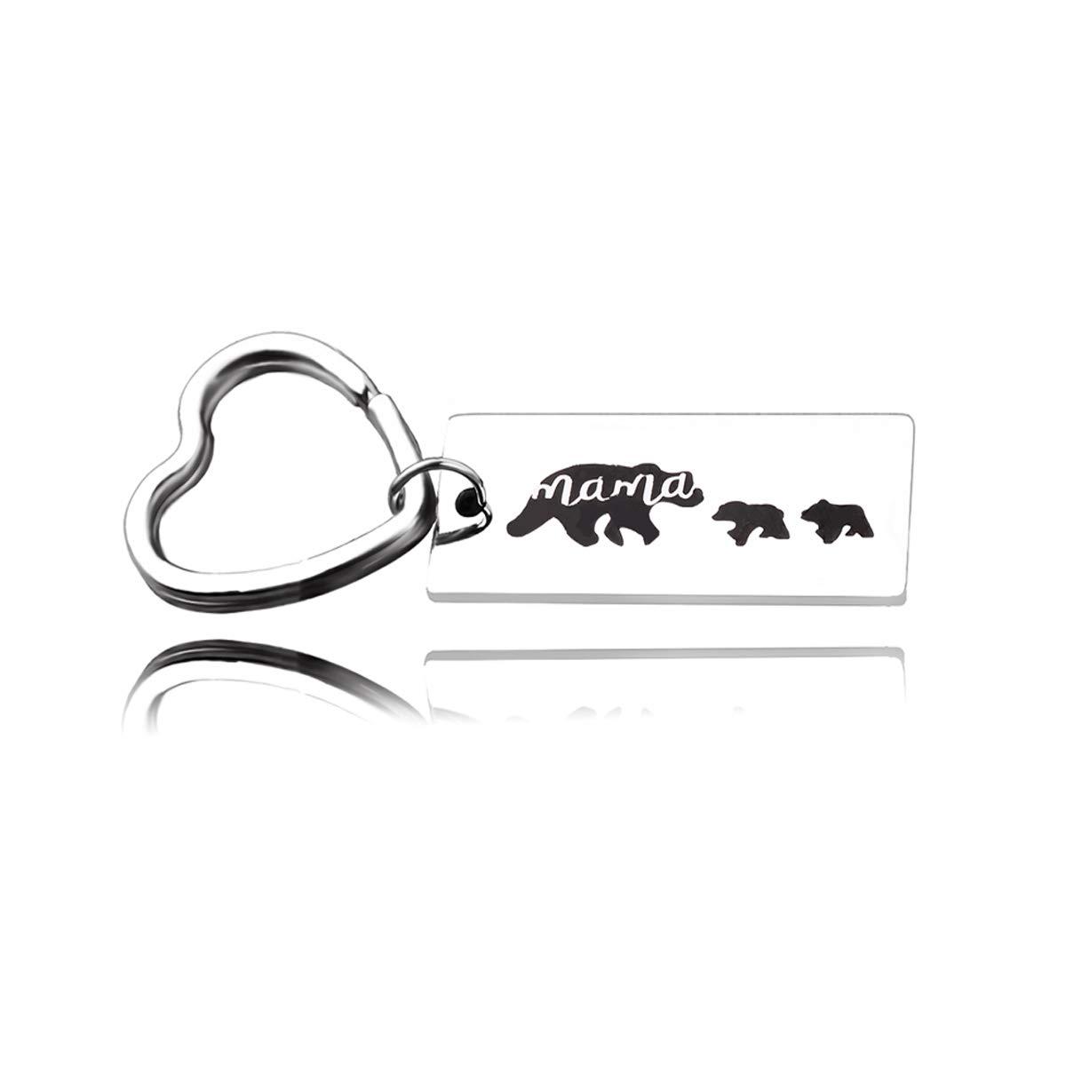 Amazon.com: runxintd Sweet Family Mama Bear pulsera acero ...