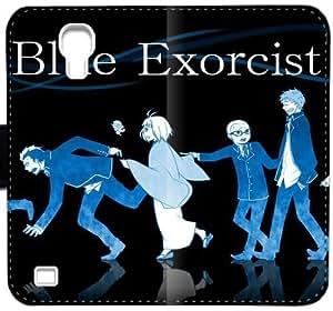 Caja del cuero de Ao No Exorcist X7A7G Funda Samsung Galaxy S4 Funda e887Cc cubierta del teléfono personalizada