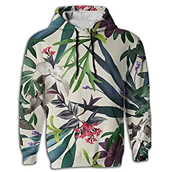 Men's Hoodie Cheap Hooded Pullover Hawaiian colorful Flower Gym