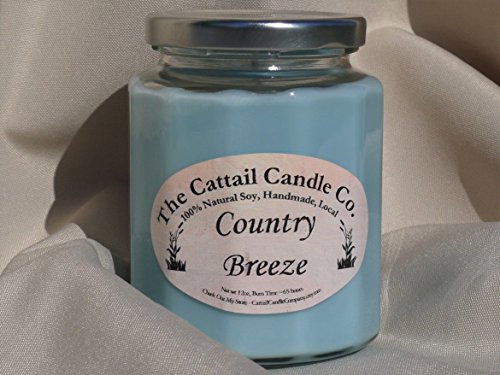 Cattail Candle (Country Breeze - 100% Soy Candle, 12 fl oz)